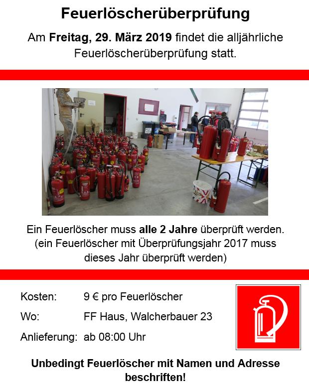 Feuerlöscherüberprüfung2019